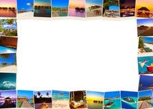 框架做马尔代夫使射击靠岸我的照片 库存图片