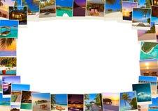 框架做马尔代夫使射击靠岸我的照片 库存照片