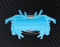 框架光滑的swirly翼 免版税图库摄影