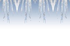 框架冰柱 图库摄影