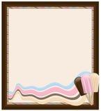 框架冰淇凌 库存图片