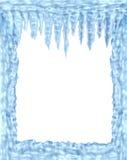 框架冻结的冰冰柱 皇族释放例证