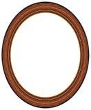 框架卵形照片木头 免版税图库摄影