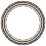 框架卵形照片银 库存照片