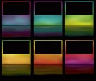 框架发光的梯度滤网反映 库存例证