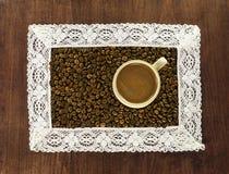 框架和咖啡 图库摄影