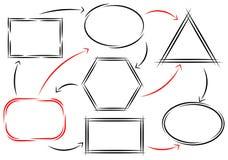 框架和箭头 免版税图库摄影