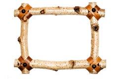 框架土气空白木头 免版税库存照片