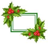 框架圣诞节槲寄生10eps 库存例证