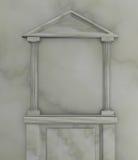 框架大理石形状的寺庙 库存例证
