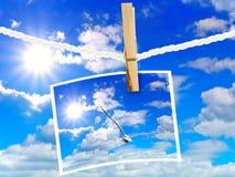 框架天空 图库摄影