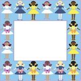 框架女孩 免版税库存图片
