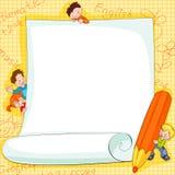 框架孩子学校 图库摄影
