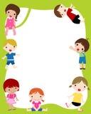 框架孩子 免版税库存图片