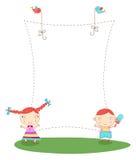 框架孩子 免版税库存照片