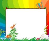 框架孩子 免版税图库摄影