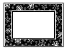 框架宽模式雪花 库存照片
