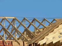 框架屋顶 库存照片