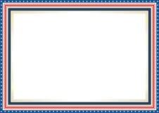 框架或边界,与爱国美国国旗样式和颜色设计 库存例证