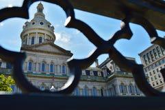 框架新式的图片的市政厅 库存照片