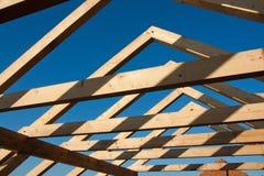 框架新的屋顶 免版税库存图片