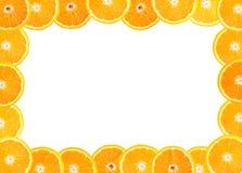 框架新鲜水果桔子 免版税库存图片