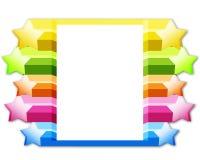 框架星形 免版税库存照片