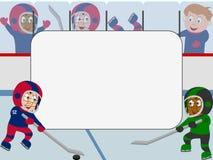 框架曲棍球冰照片 库存图片