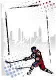 框架曲棍球冰 免版税库存图片