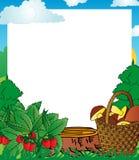 框架木头果子 库存照片