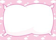 框架枕头粉红色 免版税图库摄影
