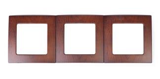 框架查出的木 库存照片