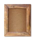 框架查出的空白木头 免版税库存图片