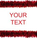 框架查出的红色闪亮金属片白色 免版税图库摄影