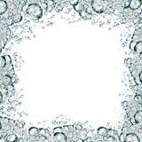 水框架泡影  免版税图库摄影
