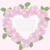 框架浪漫玫瑰向量 向量例证