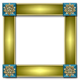 框架深青色瓦片 库存照片