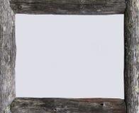 框架灰色木 免版税库存照片