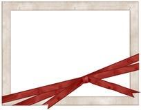 框架照片红色丝带 免版税库存照片