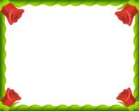框架照片红色浪漫玫瑰 库存照片