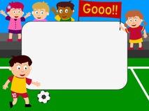 框架照片足球 皇族释放例证