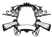 框架狩猎主题 免版税库存照片