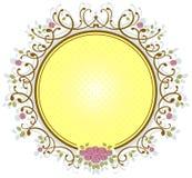 框架玫瑰色葡萄酒 向量例证