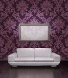 框架现代沙发 免版税库存图片