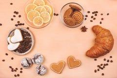 框架甜点 免版税库存图片