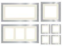 框架生动描述集合银 图库摄影
