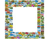 框架由各种各样的自然照片制成 图库摄影