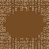 框架由棕色curlicues做成 图库摄影