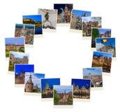 框架由比利时旅行图象做成我的照片 库存图片