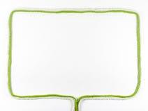 框架由羊毛螺纹制成 免版税图库摄影